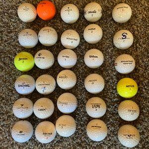 30 assortment clutter golf balls.